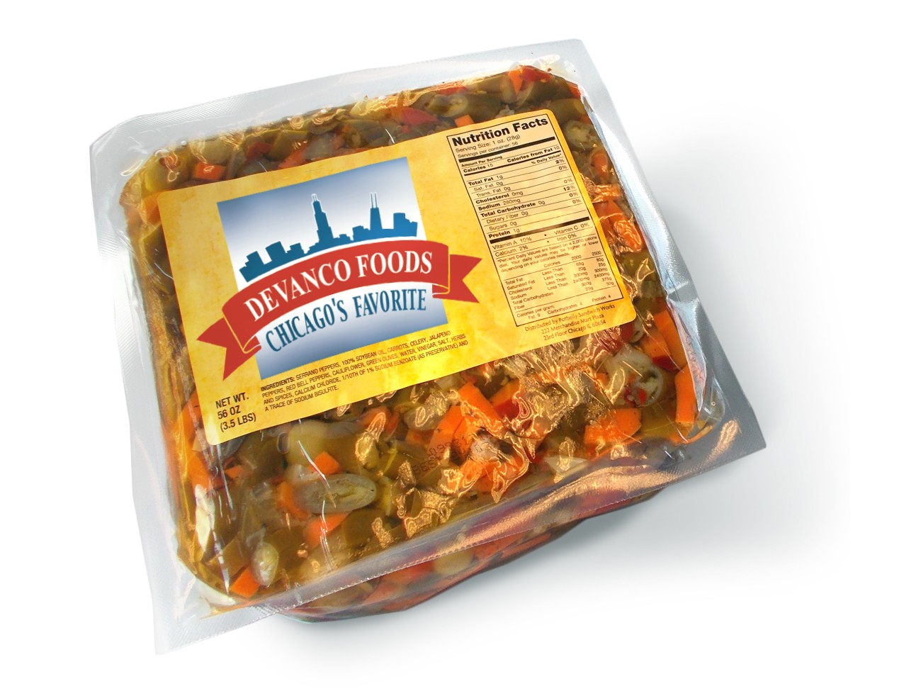 Private Label Pack of Giardiniera
